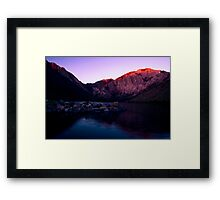 First Light, Convict Lake Framed Print