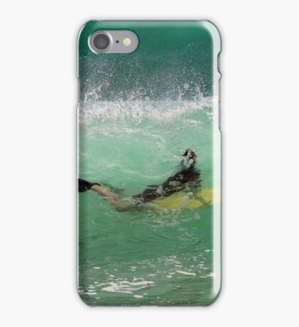 Bodyboarding inside a wave iPhone Case/Skin