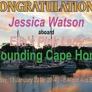 Congratulations Jessica Watson Rounding Cape Horn by Graham Mewburn