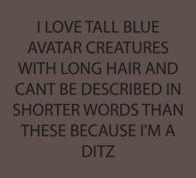 AVATAR I LOVE TALL BLUE AVATAR CREATURES by NemesisGear