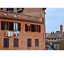 No dryers in Italy! Photographic Print