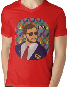Parks and Rex Mens V-Neck T-Shirt