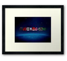 #NERDGASM sci-fi Framed Print
