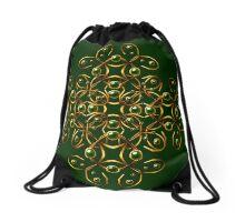 Golden tangle Drawstring Bag