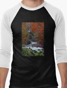 Autumn at the Creek in the Woods Men's Baseball ¾ T-Shirt