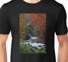 Autumn at the Creek in the Woods Unisex T-Shirt