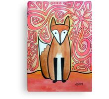 Fox in Neon Pink Canvas Print