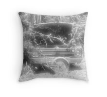 old chevy winter scene Throw Pillow