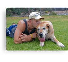 Me and my old girl Canvas Print