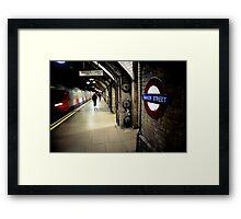 Baker Street Underground Framed Print