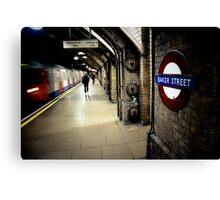 Baker Street Underground Canvas Print