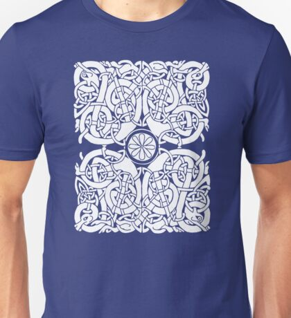 Lindisfarne Hounds in White Unisex T-Shirt
