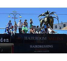 Al fresco hairdressing set up, St Kilda Photographic Print