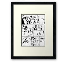 HSC Major Work Comic page 1 Framed Print