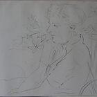 Ian Sitting In The Creek by Jeffrey Hamilton