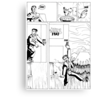 HSC Major Work Comic page 3 Canvas Print