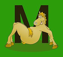 Pony Monogram Letter M by piedaydesigns