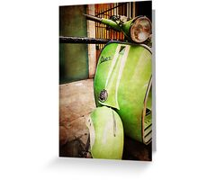 iPhoneography: Green Vespa Greeting Card