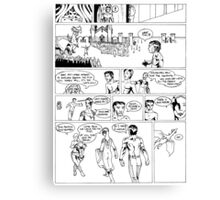 HSC Major Work Comic page 7 Canvas Print