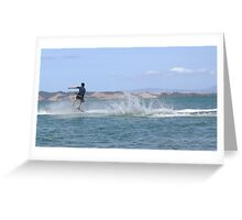 Flying across the water Greeting Card