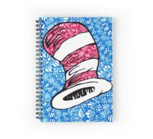 Dr. Suess Cat in the Hat Zentangle Spiral Notebook