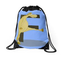 Pony Monogram Letter F Drawstring Bag