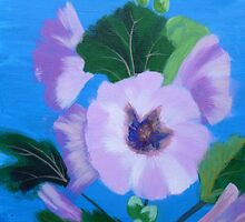 Hollyhocks by KarenJI1962
