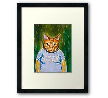 Geeky Cat Framed Print