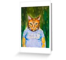 Geeky Cat Greeting Card