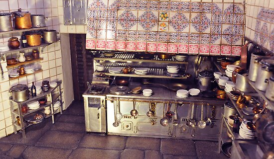 .Just a Spanish Kitchen. Its a scale model: a representation of the Kitchens oldest restaurant in the world by Milita