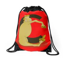 Pony Monogram Letter C Drawstring Bag