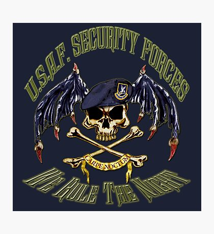 Security Forces Carpe Noctum Photographic Print