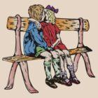 Two kids in love by Tom Prokop