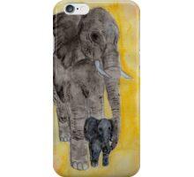 Mama and Baby Elephant iPhone Case/Skin