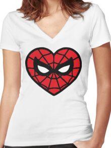 I <3 Spider-man v.2 Women's Fitted V-Neck T-Shirt