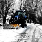 Tractor in Snow by Ann Persse