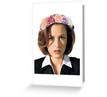 Gillian Anderson Dana Scully Fox Mulder X Files Greeting Card
