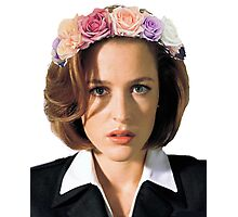 Gillian Anderson Dana Scully Fox Mulder X Files Photographic Print
