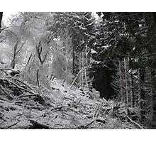 Cnoc Fergan snow Photographic Print
