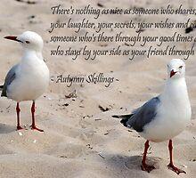 McCrae Beach. Seagulls by pixelartdesigns