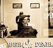 Barber on Degraves by Bec  Brindley