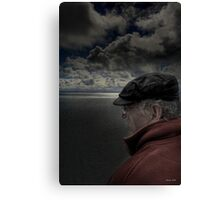 Reading the weather Canvas Print