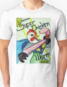 Super Chicken vs Worm Unisex T-Shirt