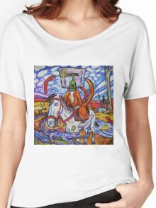 Neddy Roo On Horsey Two Shoes Women's Relaxed Fit T-Shirt