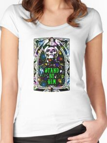 STAND BY HIM Women's Fitted Scoop T-Shirt