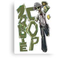 Zombie Cop Canvas Print