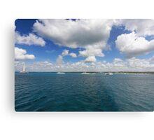 Boats in Caribbean sea Metal Print