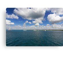 Boats in Caribbean sea Canvas Print