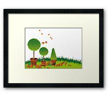 Garden Topiary Framed Print