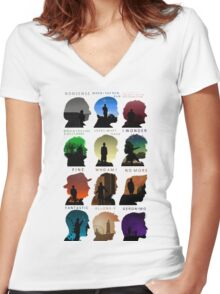 Who Said it (1-11) Women's Fitted V-Neck T-Shirt